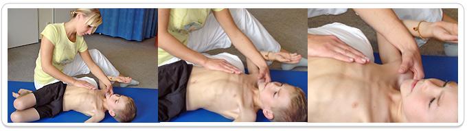 Physiotherapie bei Mukoviszidose fuer Kinder
